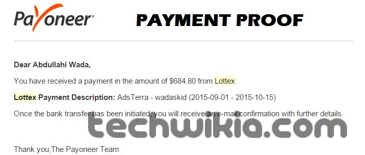 Payment Proof Adsterra