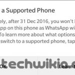 BlackBerry WhatsApp Warning