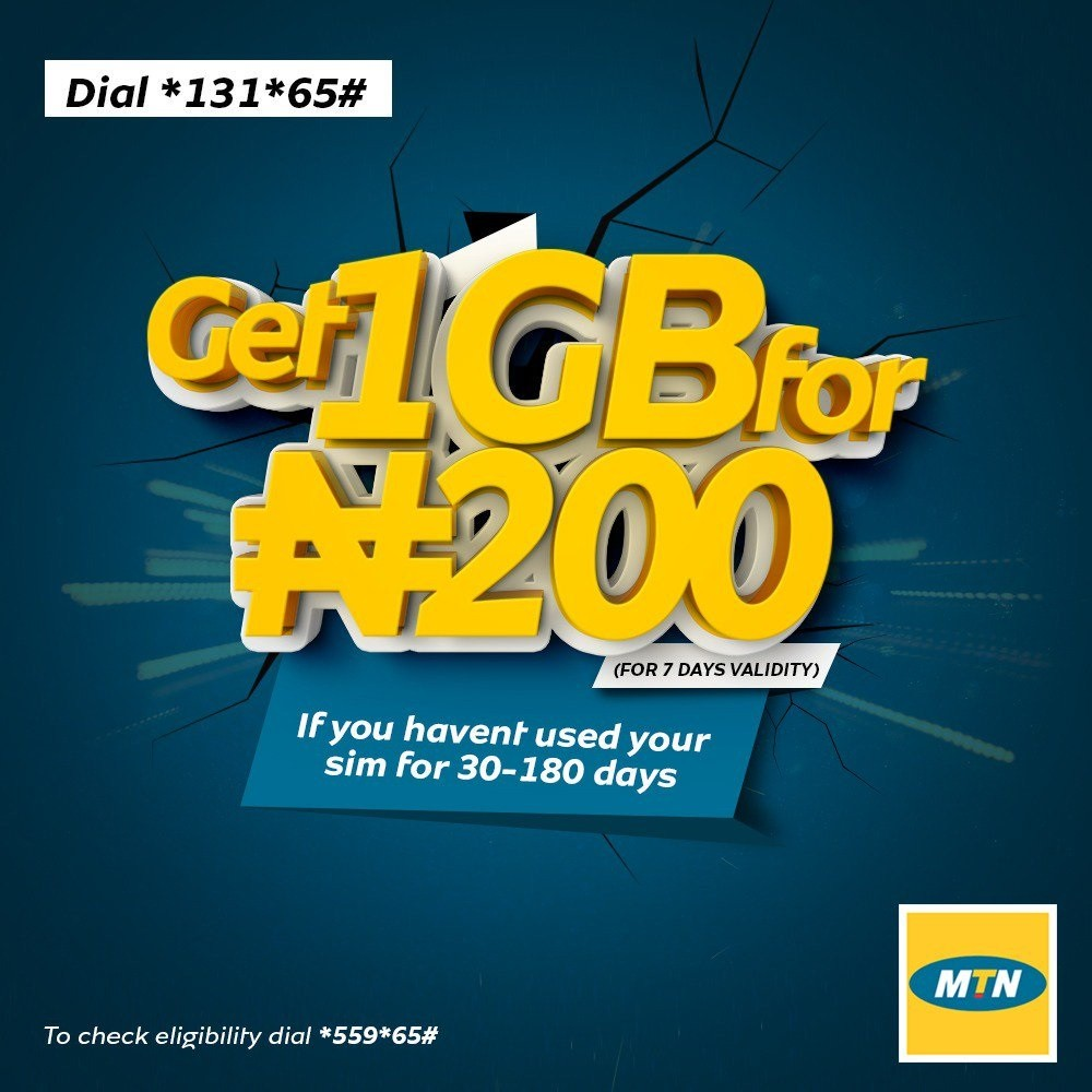 MTN Welcome Back Offer